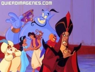 Felicidad en palacio de Aladdin y sus amigos