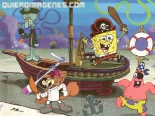 Bob Esponja jugando a pirata