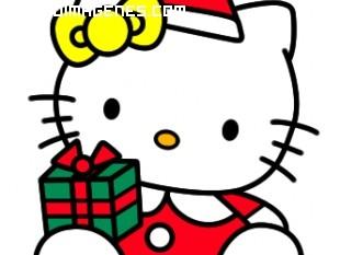Hello Kity con regalo de Navidad