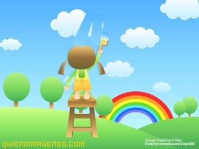 Coloreando Paisaje Infantil