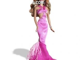 Barbie con traje de noche rosa