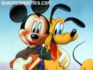 Mickey y su amigo Pluto
