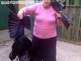 Señora cazadora