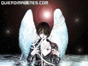 Imagen gótica de un ángel