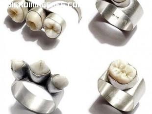 Joyas hechas con dientes