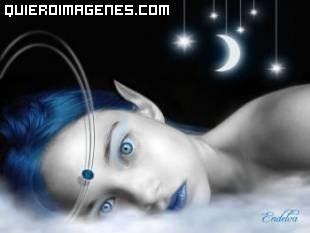 La melancolía en el rostro de una Elfa