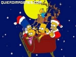 Los Simpsons en Trineo Papa Noel