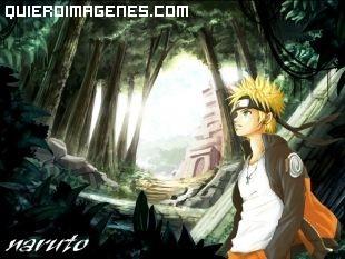 Naruto pasea por el bosque