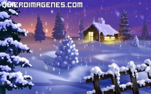 Imagen de un paisaje nevado