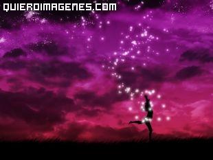 Imagen de una Bailarina entre tonos morados