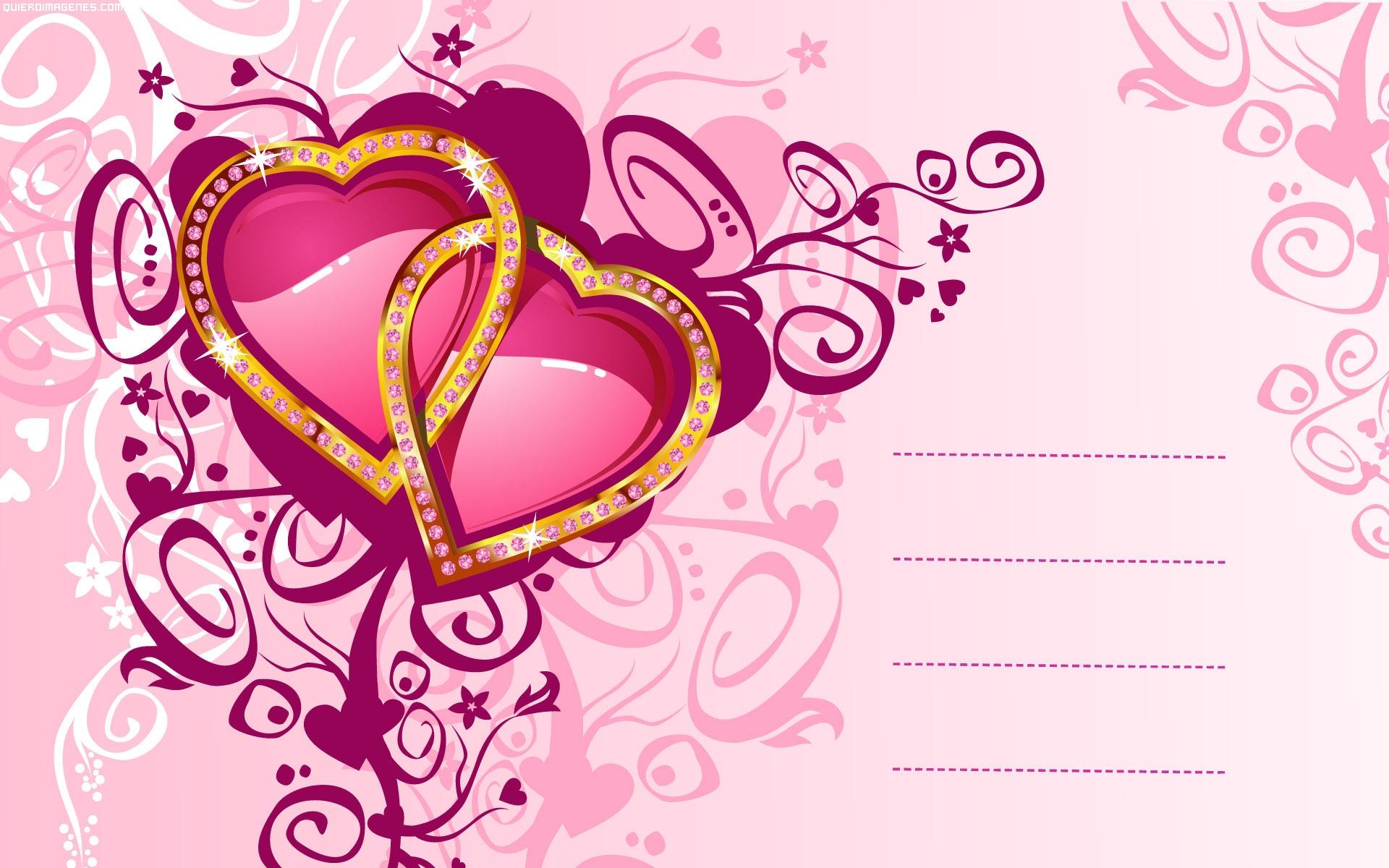 Postal corazones enlazados - Y k love wallpaper ...