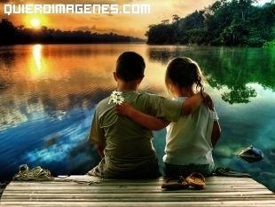 Romántica foto infantil de amor