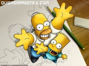 Homer Simpsons y Bart Simpsons