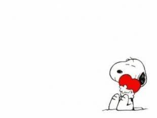 Snoopy y su corazón
