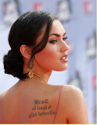Megan fox tatuada