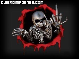 Un esqueleto bastante gamberro