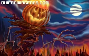Imagen de espantapájaros hallowen