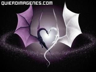 Corazon de dragones enamorados