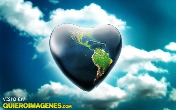 La tierra con forma de corazón