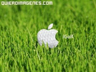 Logotipo de Apple en el golf