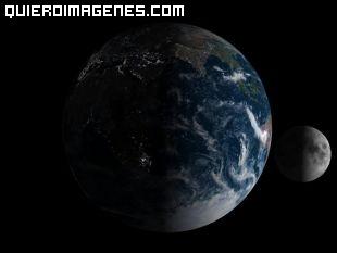 Planeta Tierra y Luna