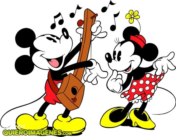 Mickey le canta una serenata a Minnie