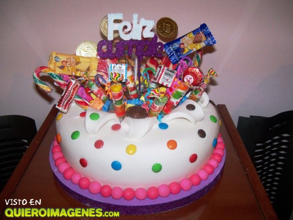 Multicolor tarta de cumpleaños
