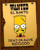 Cartel de Se Busca Bart