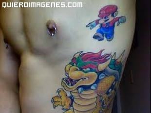 Mario Bros luchando