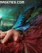 Angel vestida de rojo