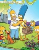 Dibujo de la familia Simpson al completo