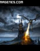 Castillo atacado por Dragón