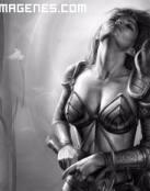 El reposo de una preciosa guerrera