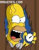 Homer Simpsosn enfadado