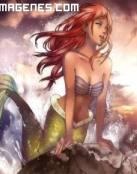 Ariel con sus cabellos rojizos ondeando al viento