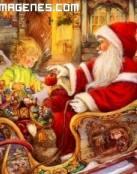 Papá Noel y la niña