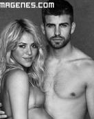 Shakira y Piqué posando juntos