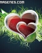 Dos corazones de amor para compartir