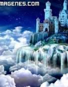 Castillo mágico en las nubes