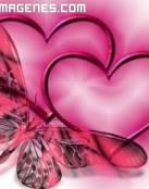 Corazones y mariposa de amor
