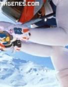 Practicando esquí