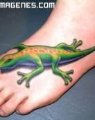 Lagartija tatuada