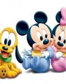 Mickey, Pluto y Minnie de beb�s