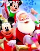La Pandilla de Mickey con Santa Claus