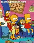 Los Simpsons delante de la tele