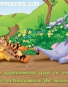 Winnie Pooh no quiere perder a sus amigos