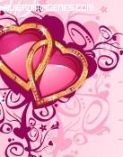 Postal corazones enlazados