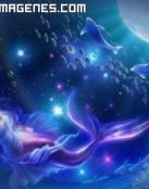 Sirena a la luz de la luna