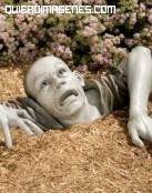 Zombie en el jardín