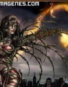 Atractiva Bruja de Fuego